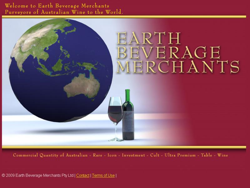 Earth Beverage Merchants - Landing page
